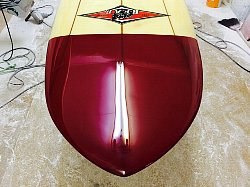 surfboard repair polyester remake nose bear 3